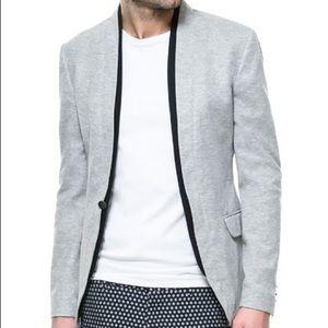 Zara Man Grey Slim Fit Jacket Blazer